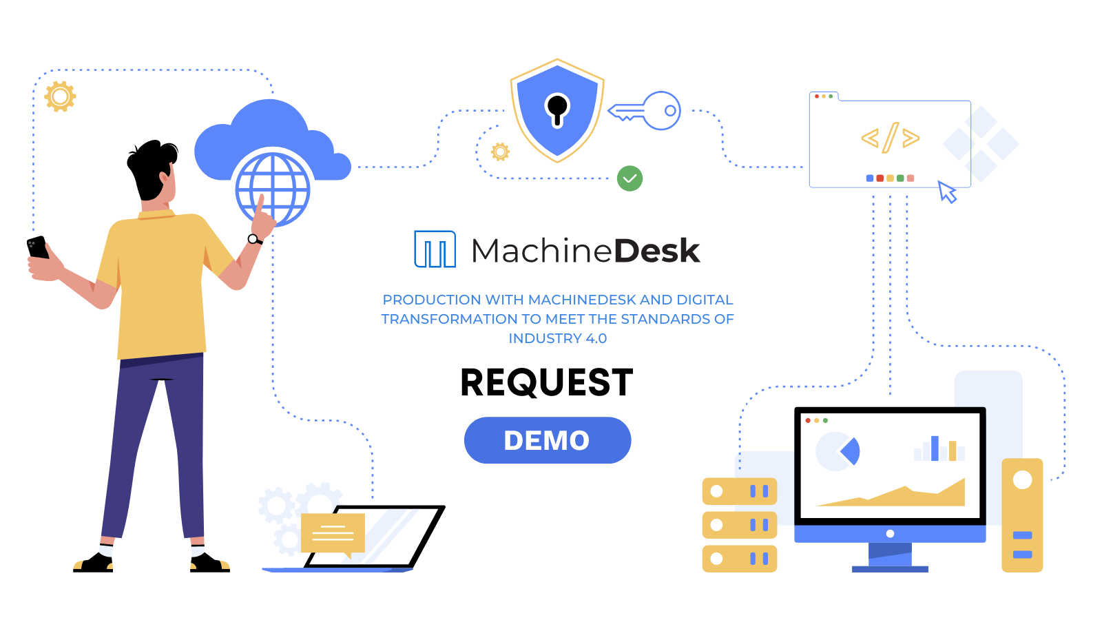 SaaS software solution in Cloud for project management in machining